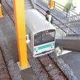 万世橋に停車のミニ列車